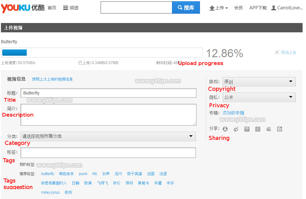 Upload video Youku, how to upload videos on Youku.com